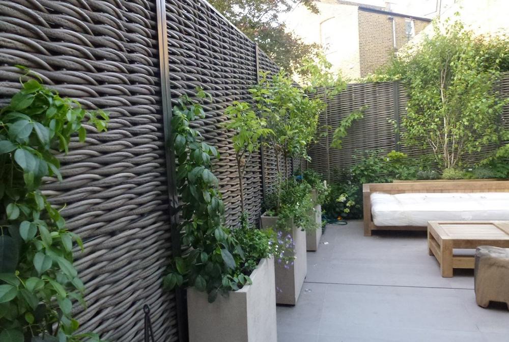 Natuurlijke tuinschermen