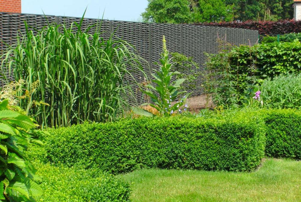 gevlochten tuinscherm